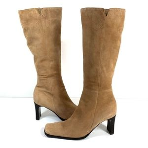 Nine West Youngone Tan Suede Tall Boots